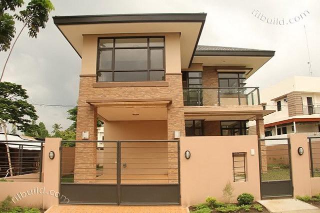 2 storey earth tone contemporary house (2)