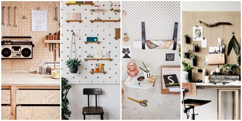 20 pegboard ideas to organize room (1)