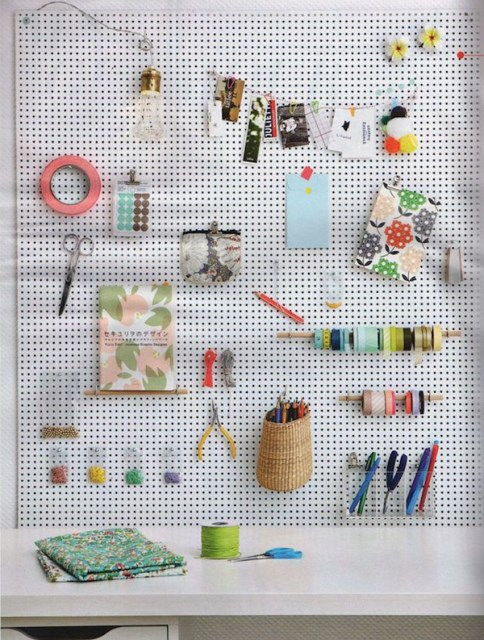 20 pegboard ideas to organize room (13)