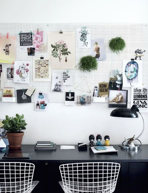 20 pegboard ideas to organize room (15)