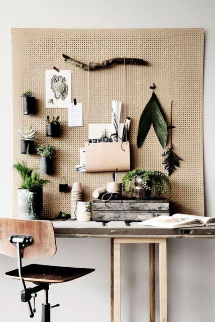 20 pegboard ideas to organize room (20)