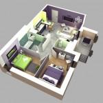 10 แปลนบ้านขนาดเล็ก รูปแบบ 3 มิติ พร้อมการจัดวางเฟอร์นิเจอร์