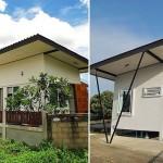 สร้างบ้านสีขาวหลังเล็กกลางธรรมชาติ ในงบประมาณราว 400,000 บาท