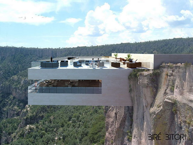 Cantilevered Restaurant Overhangs Mexico's Copper Canyon (1)