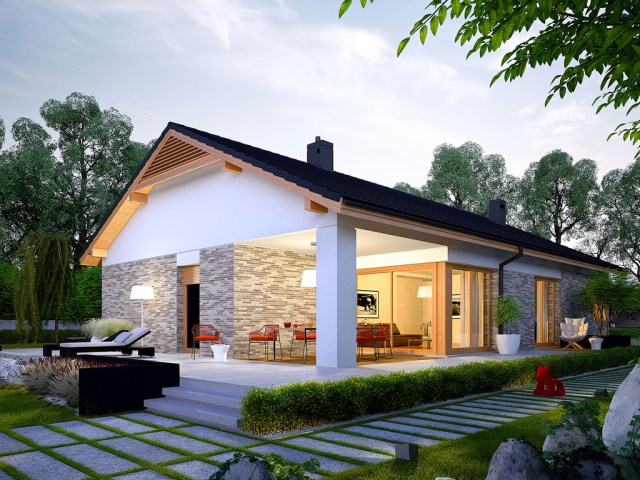 Contemporary House Simply large terrace (2)
