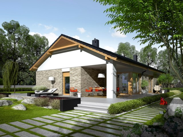 Contemporary House Simply large terrace (3)