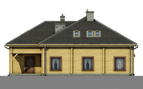 Contemporary style house Wooden (7)