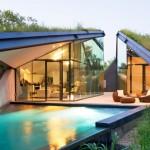 บ้านกระจก ดีไซน์ล้ำสมัย ท่ามกลางสวนสวย พร้อมสระว่าน้ำแบบบ้านวิลล่า