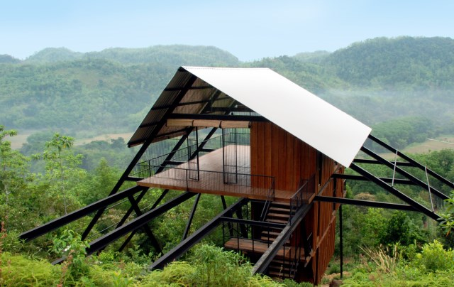 Hillside villa cabins style (12)