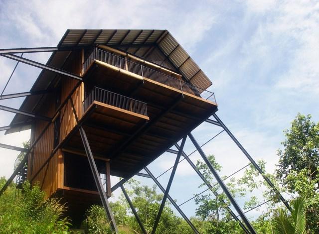 Hillside villa cabins style (14)