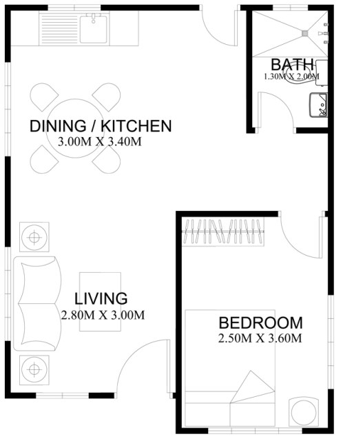 Modern House simple Design in 38 sqm (1)