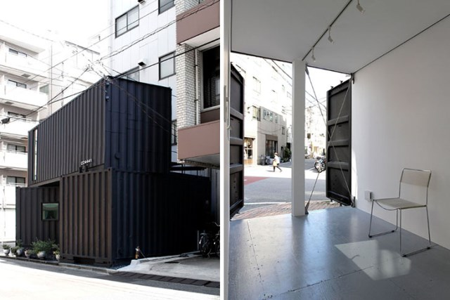 Modern container house small and compact