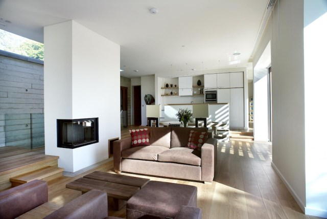 Modern home simple shapes Decorated with concrete (8)