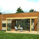 บ้านโมเดิร์นรูปทรงเรียบง่าย ตกแต่งสวยงามด้วยไม้ และซุ้มไม้ริมตัวบ้าน
