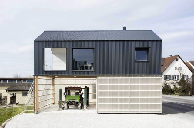 Modern home with modern materials built in garage (6)