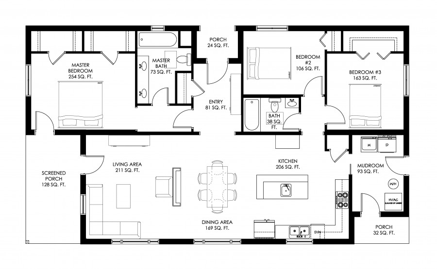 Modern house 3 bedrooms (2)
