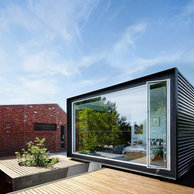 Modern house box Shape Wood and glass  (11)
