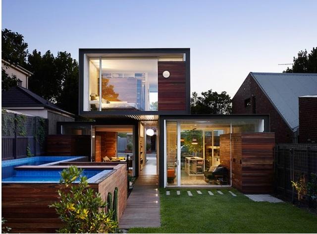 Modern house box Shape Wood and glass  (12)