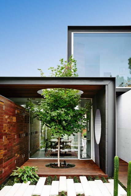 Modern house box Shape Wood and glass  (14)