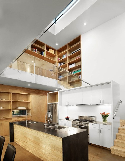 Modern house decor Wood and cement (5)