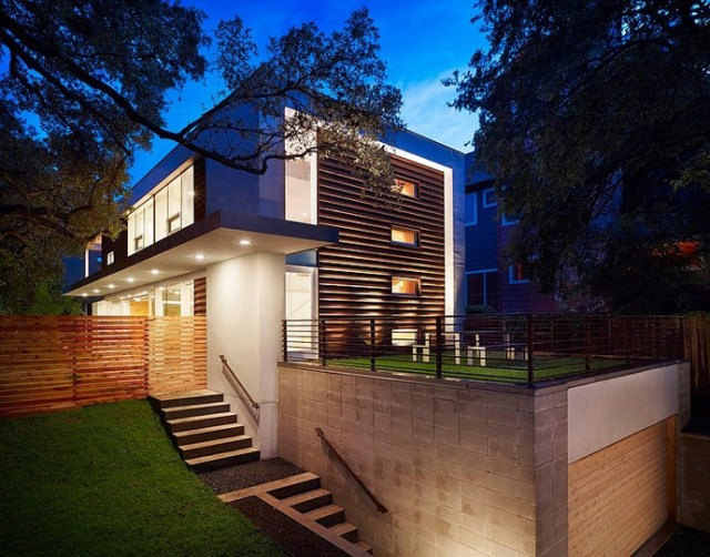 Modern house decor Wood and cement (6)