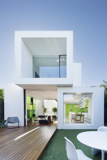 Modern house white and green (11)