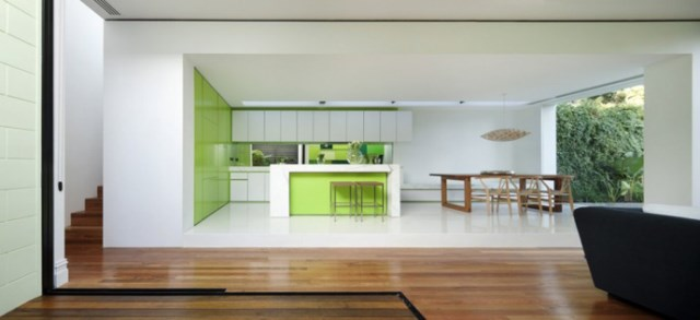 Modern house white and green (14)