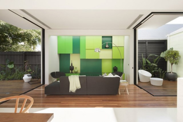 Modern house white and green (2)