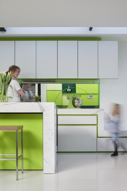Modern house white and green (4)
