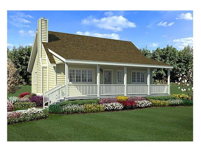 Rustic wooden house with high front porch  (3)