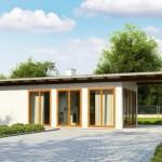บ้านสวนขนาดเล็ก พร้อมแปลนบ้านแบบสตูดิโอ ตกแต่งเรียบง่ายท่ามกลางธรรมชาติ