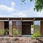 บ้านสวนขนาดเล็กๆ 1 แสนกว่าๆ ดีไซน์เรียบง่าย ใช้วัสดุจากต้นปาล์ม