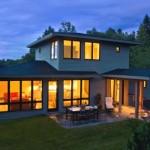 บ้านสองชั้นขนาดกลาง สไตล์ร่วมสมัย ตกแต่งภายในสวยเนียบ เรียบง่าย