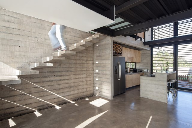 Two-storey Medium house Modernlofts Wood and cement (10)