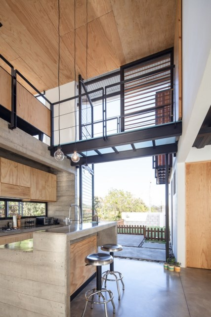 Two-storey Medium house Modernlofts Wood and cement (11)