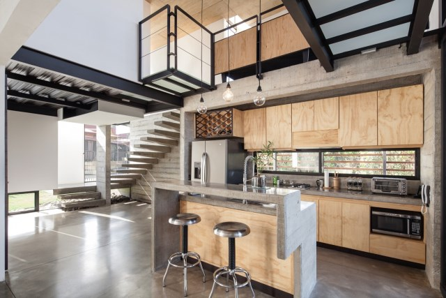 Two-storey Medium house Modernlofts Wood and cement (13)