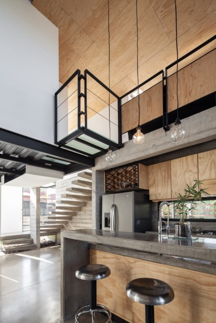 Two-storey Medium house Modernlofts Wood and cement (14)