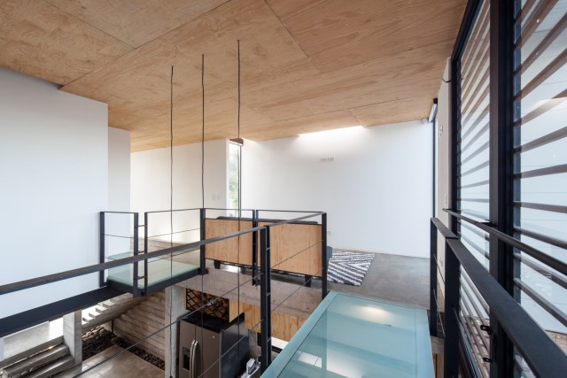 Two-storey Medium house Modernlofts Wood and cement (16)