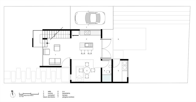 Two-storey Medium house Modernlofts Wood and cement (2)