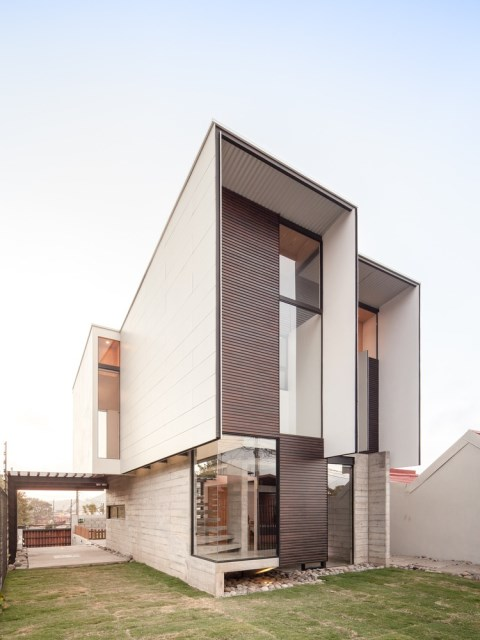 Two-storey Medium house Modernlofts Wood and cement (4)
