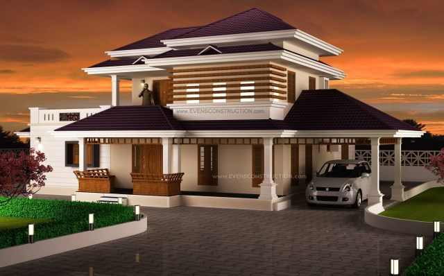 Two-story contemporary dignified tone shape and materials (1)
