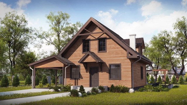 Two-story contemporary home decor wood (1)