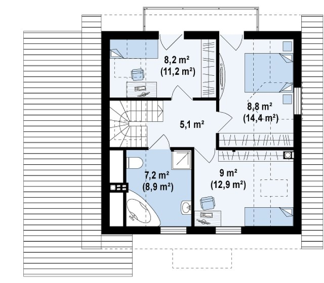 Two-story contemporary home decor wood (3)
