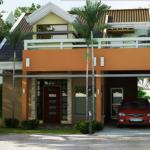 บ้านร่วมสมัยสองชั้น ออกแบบทันสมัย พร้อมดาดฟ้าและใต้ถุนบ้านริมสวน
