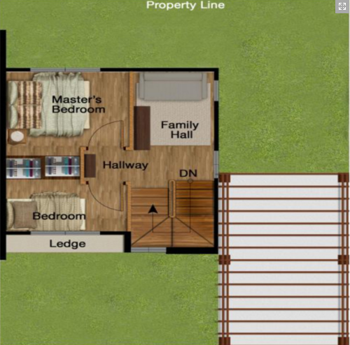 Two-story house With gardens around (6)