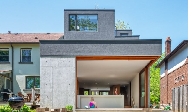 Two-story house modern shape materials from wood and glass (7)