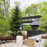 บ้านไม้ตากอากาศ ออกแบบสีดำเข้ม ให้แตกต่างจากธรรมชาติ