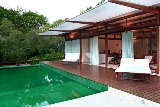 Villa Modern house resort mood materials of wood (1)
