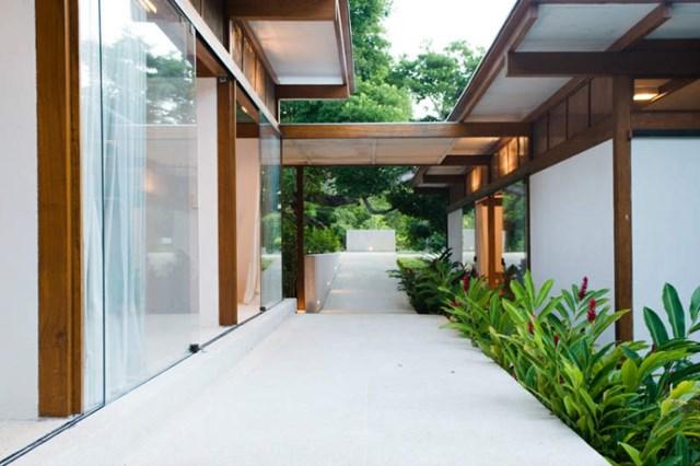 Villa Modern house resort mood materials of wood (14)