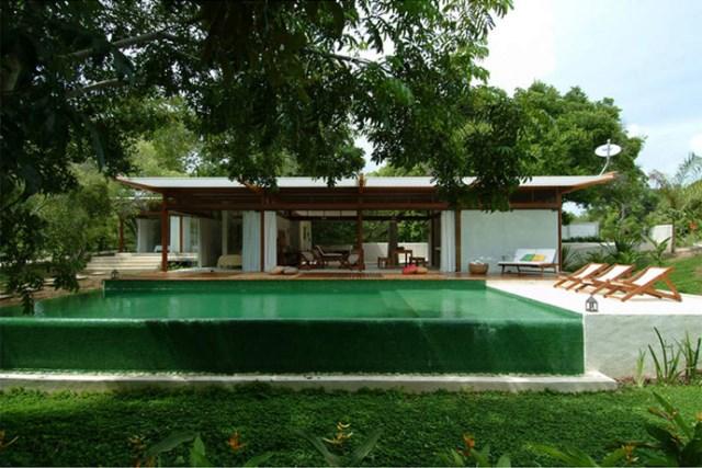 Villa Modern house resort mood materials of wood (15)